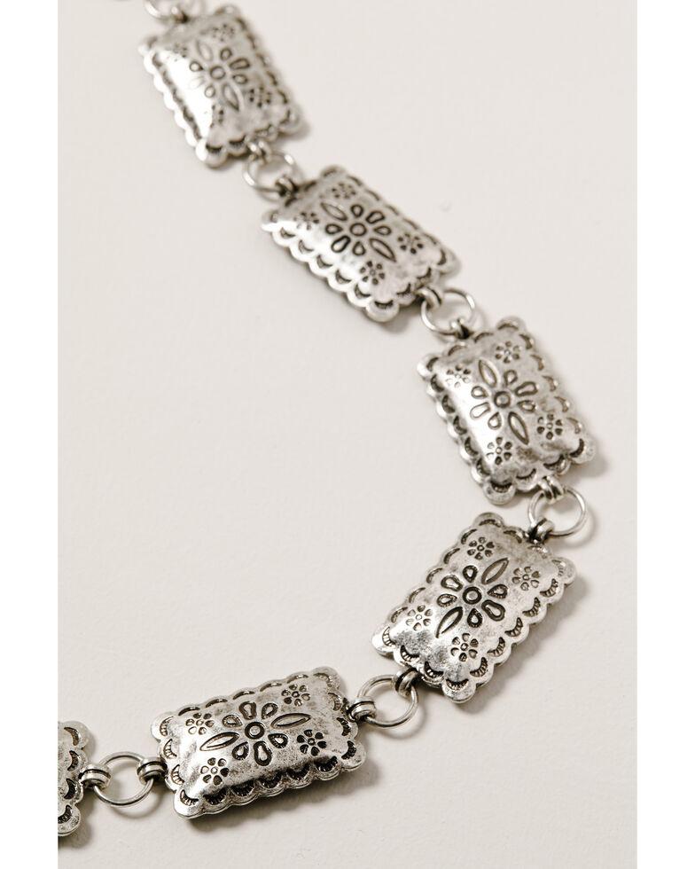 Shyanne Women's Wild Soul Multi Floral Concho Necklace, Silver, hi-res