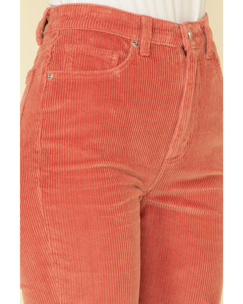 Lee Women's Canyon Rose High Rise Cord Flare Jeans , Rose, hi-res