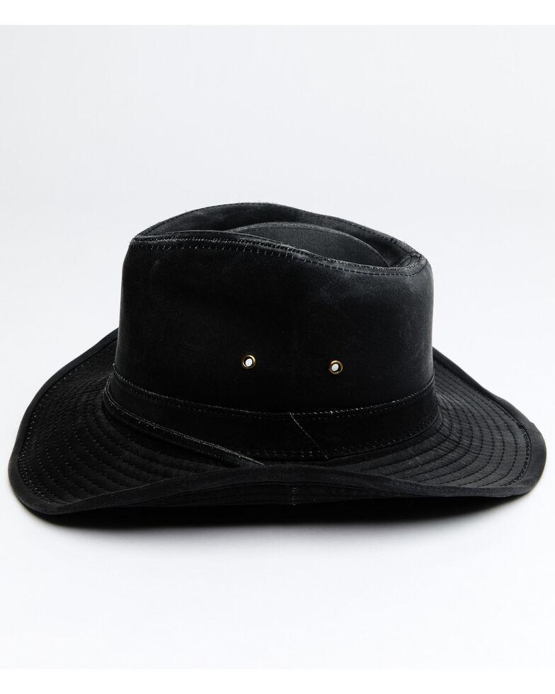 Hawx Men's Black Outback Weathered Cotton Sun Work Hat , Black, hi-res