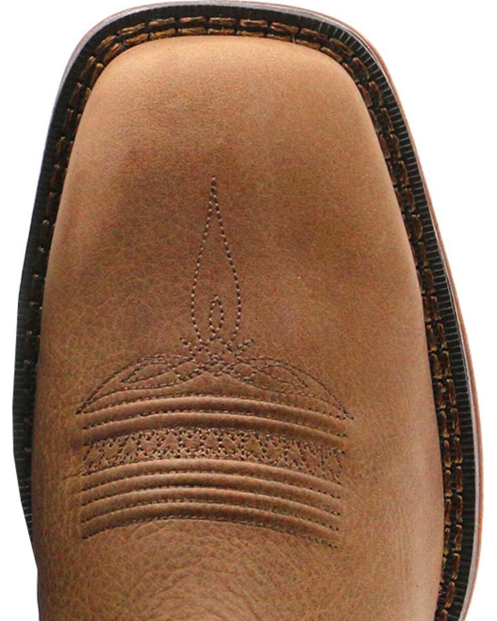 Durango Rebel Men's Pull-On Western Boots - Square Toe , Brown, hi-res