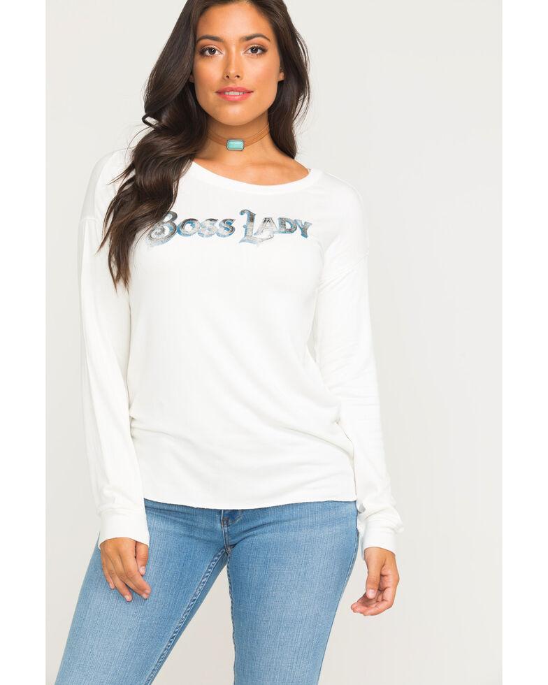 Idyllwind Women's Boss Lady Favorite Fleece Top, Ivory, hi-res
