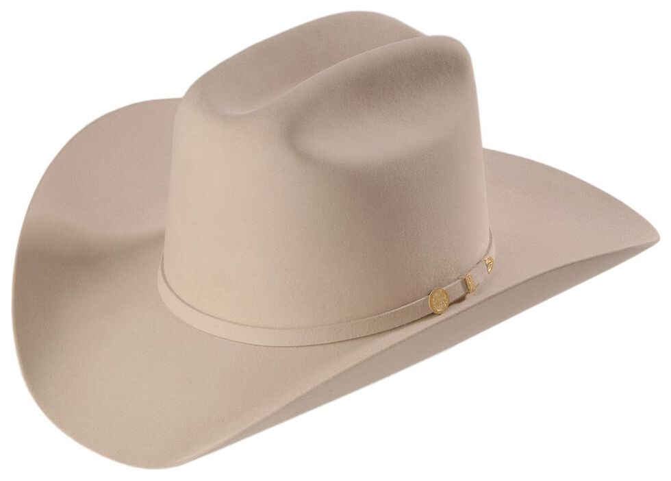 Stetson 100X El Presidente Fur Felt Western Hat, Silverbelly, hi-res