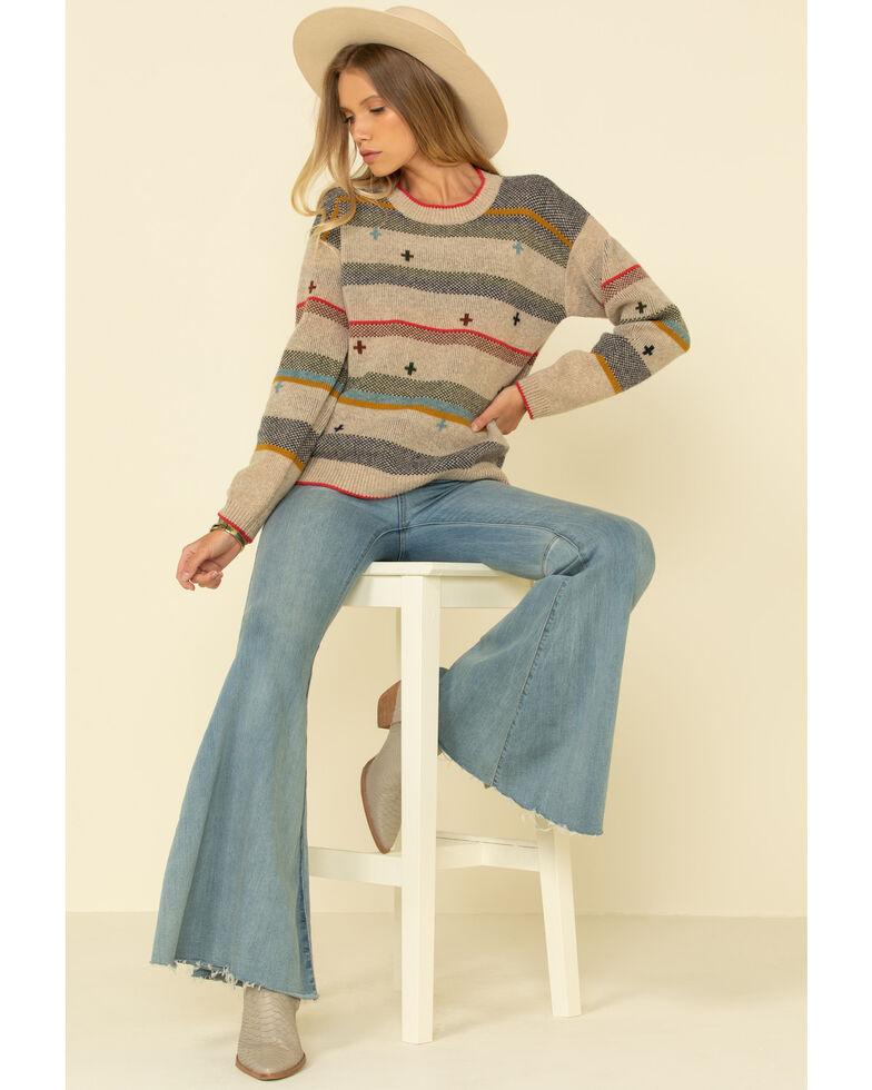 Pendleton Women's Tan Bridger Stripe Sweater , Tan, hi-res