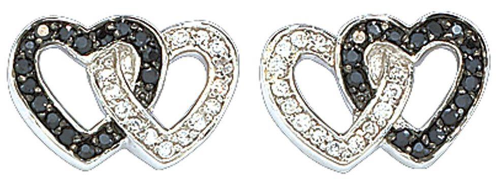 Montana Silversmiths Double Heart Earrings, Silver, hi-res