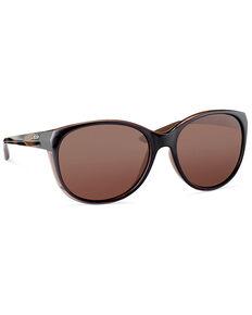 Hobie Women's Dana Crystal Brown & Copper Polarized Sunglasses , Brown, hi-res