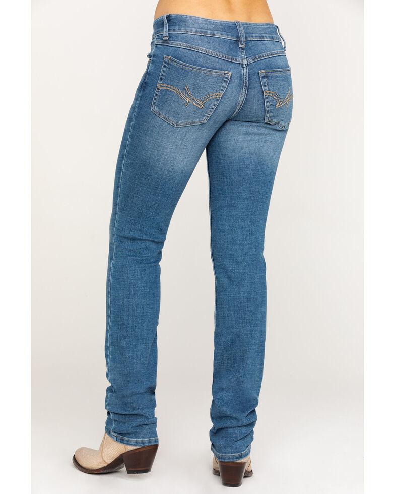e92c4f16 Zoomed Image Wrangler Women's Everyday Lancaster Mid-Rise Straight Leg Jeans,  Medium Blue, hi-