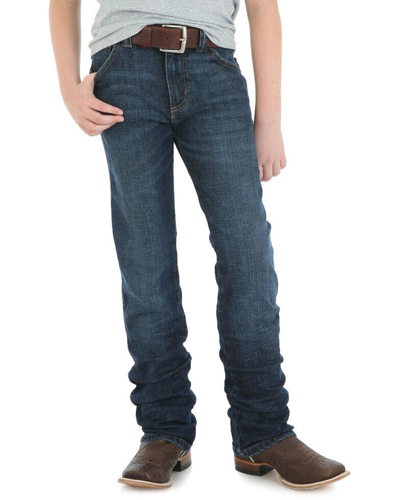 Wrangler Retro Boys' Portland Slim Straight Jeans, Blue, hi-res