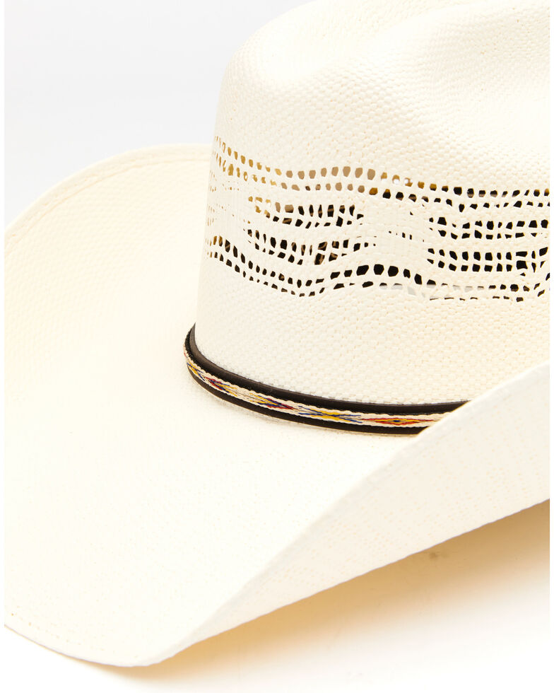 Cody James Men's 20X Fancy Aztec Bangora Western Straw Hat , No Color, hi-res