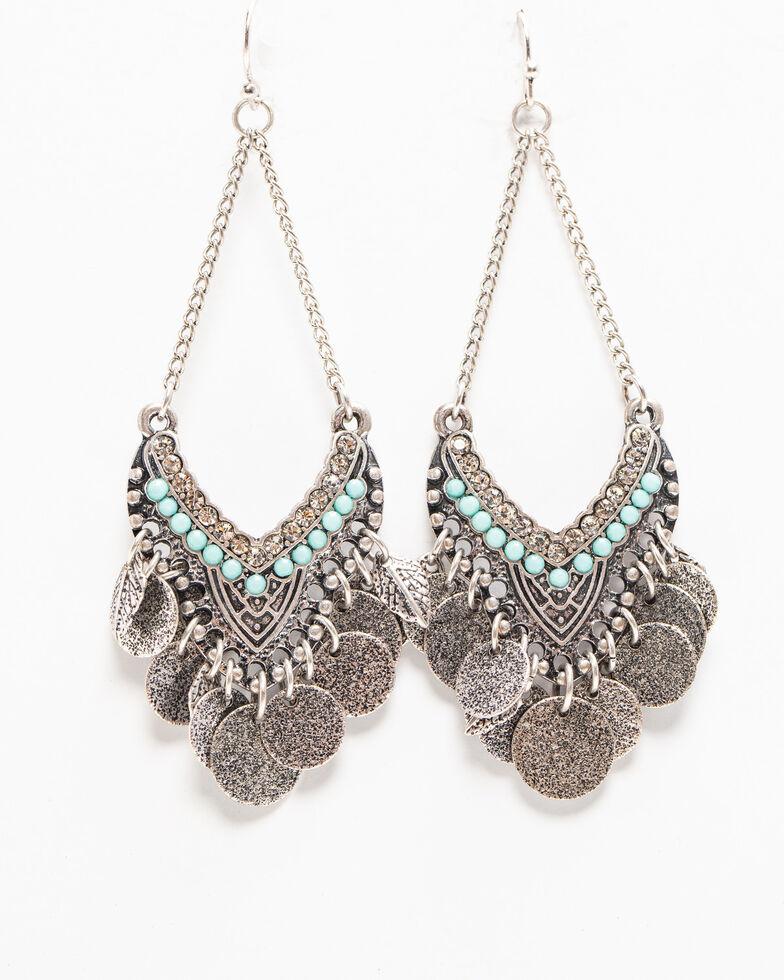 Shyanne Women's Autumn Saddle Fringe Earring , Silver, hi-res