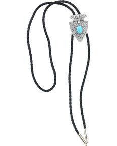 Cody James® Men's Native Arrow Bolo Tie, Silver, hi-res