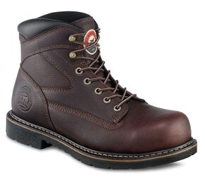 """Irish Setter by Red Wing Shoes Men's Farmington 6"""" Lace-Up EH Work Boots - Steel Toe, Brown, hi-res"""
