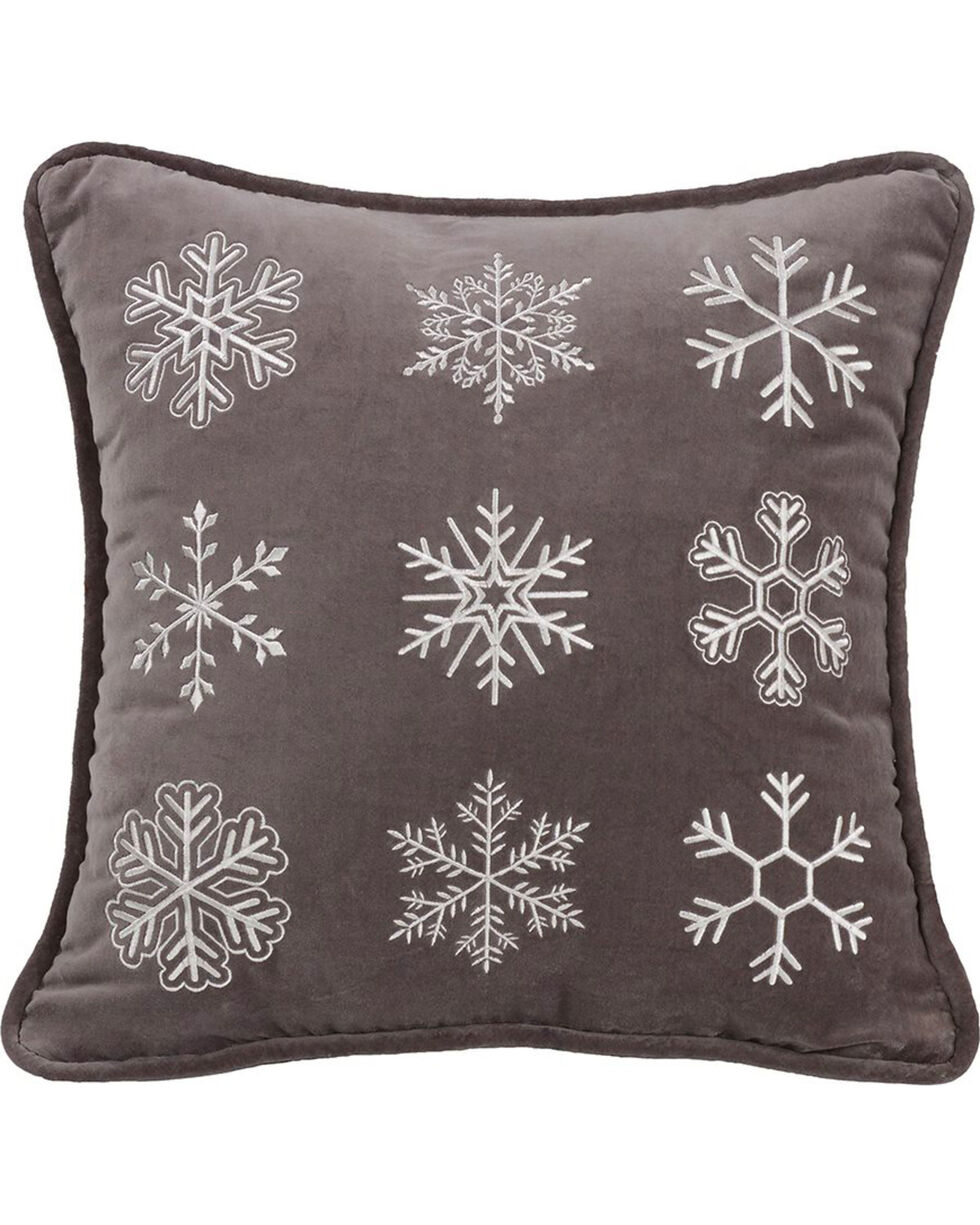 HiEnd Accents Whistler Snowflake Throw Pillow, Multi, hi-res