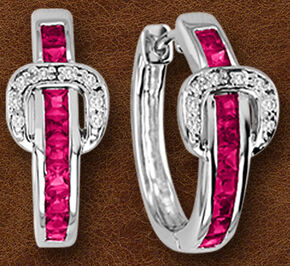 Kelly Herd Sterling Silver Contemporary Buckle Earrings , Silver, hi-res