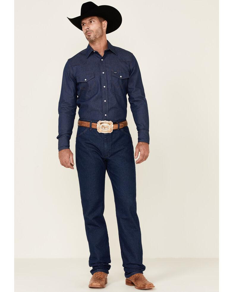 Wrangler Men's 13MWZ Prewashed Regular Fit Jeans - Tall, Indigo, hi-res