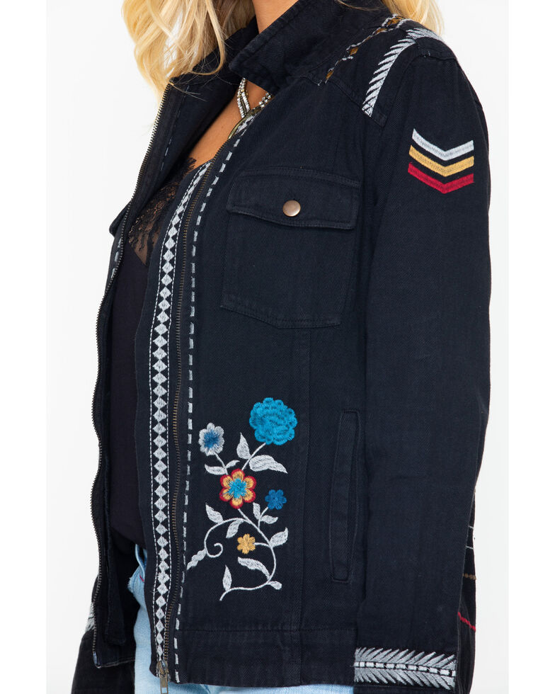 Idyllwind Women's Lindale Glam Embroidered Jacket, Black, hi-res