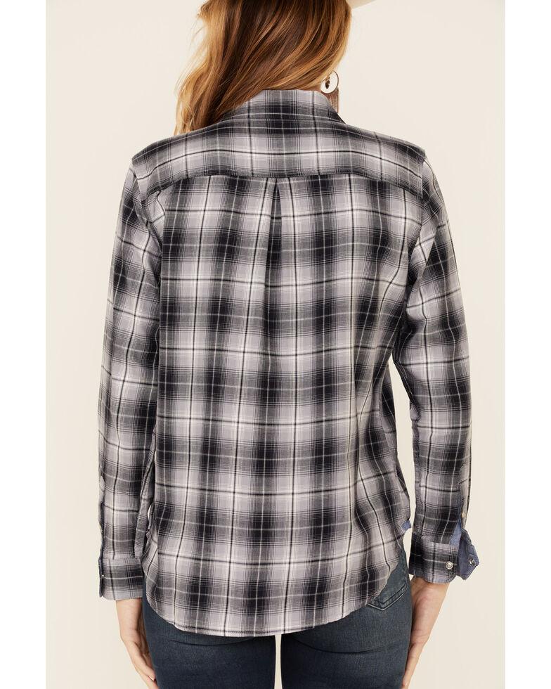 Flag & Anthem Women's Maxie Plaid Long Sleeve Snap Western Core Shirt , Grey, hi-res
