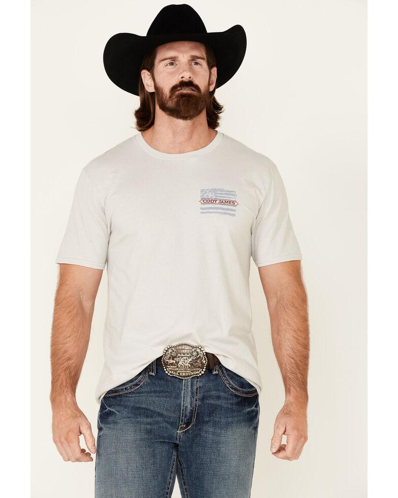 Cody James Men's CJ For President Graphic Short Sleeve T-Shirt , Light Grey, hi-res