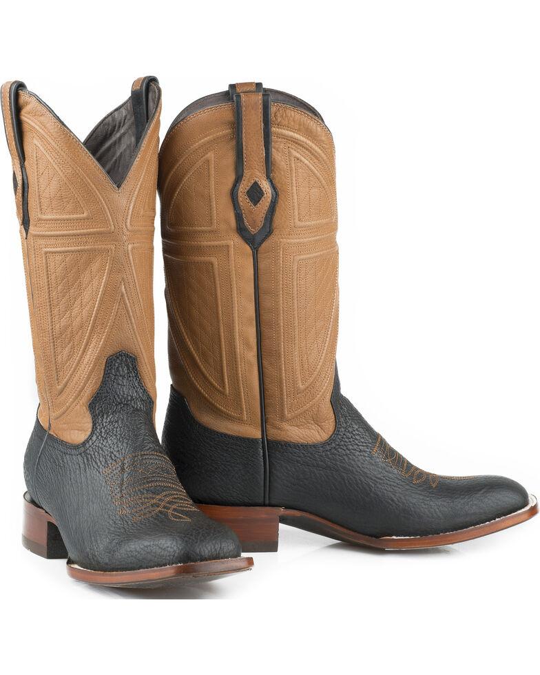 c9c9f33d66d Stetson Men s Black Billings Shark Leather Western Boots - Square Toe