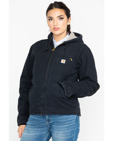 Carhartt Women's Sandstone Sierra Work Jacket, Black, hi-res