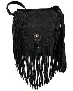 Kobler Leather Women's Black Lubbock Crossbody Bag, Black, hi-res