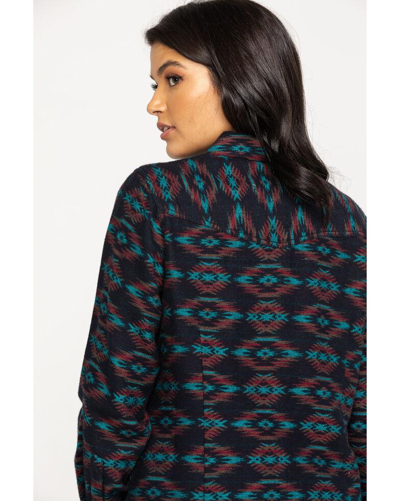 Ariat Women's R.E.A.L. Rustic Long Sleeve Western Shirt, Black, hi-res