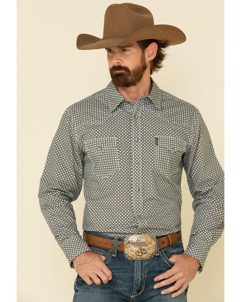Cinch Men's Modern Fit Multi Small Geo Print Snap Long Sleeve Western Shirt , Multi, hi-res