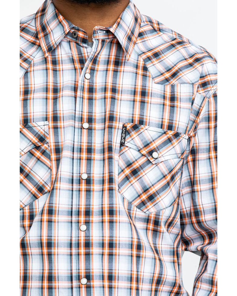 Cinch Men's Modern Multi Plaid Long Sleeve Western Shirt , Multi, hi-res