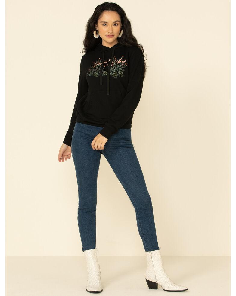 Miss Me Women's Black Desert Vibes Graphic Hooded Sweatshirt , Black, hi-res