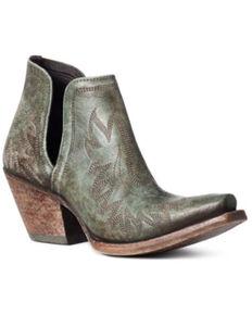 Ariat Women's Turquoise Dixon Fashion Booties - Snip Toe, Green, hi-res