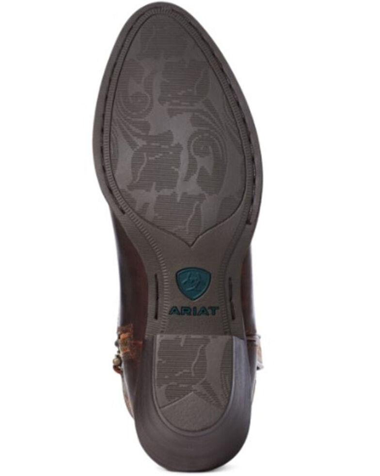 Ariat Women's Darlin Sassy Western Booties - Round Toe, Brown, hi-res