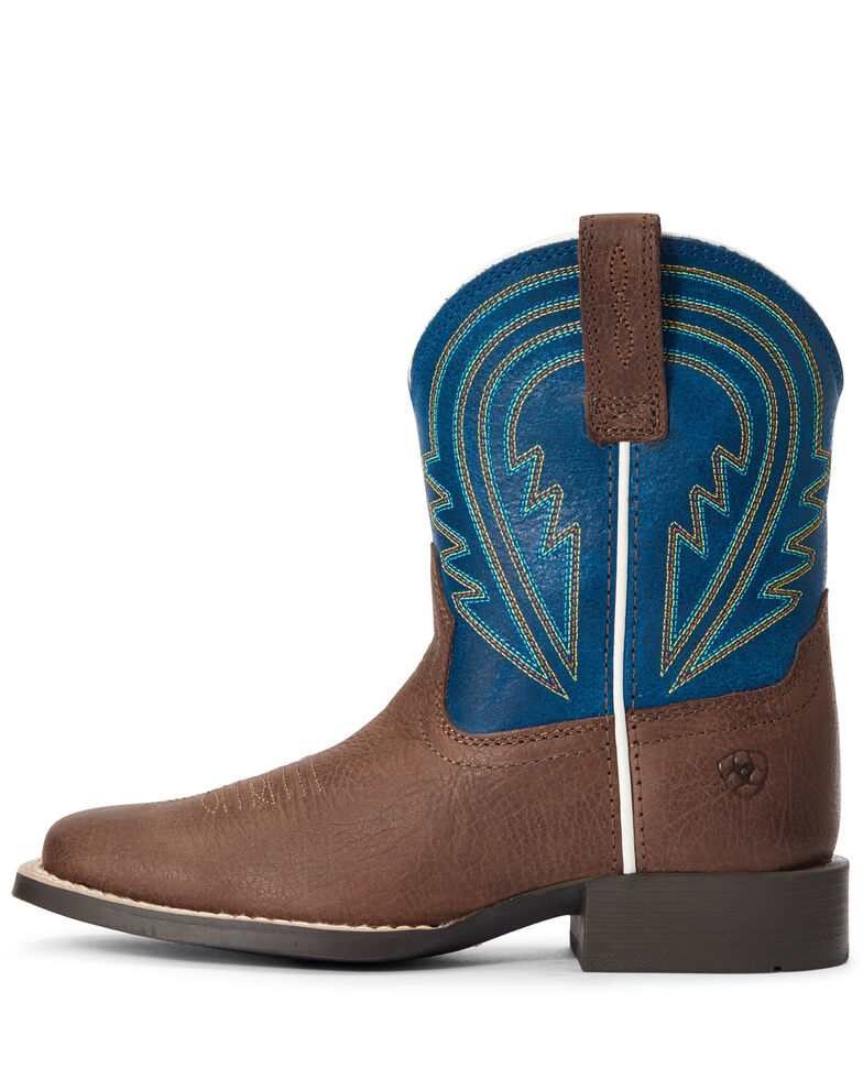 Ariat Boys' Lil Hoss Western Boots - Square Toe, Brown, hi-res
