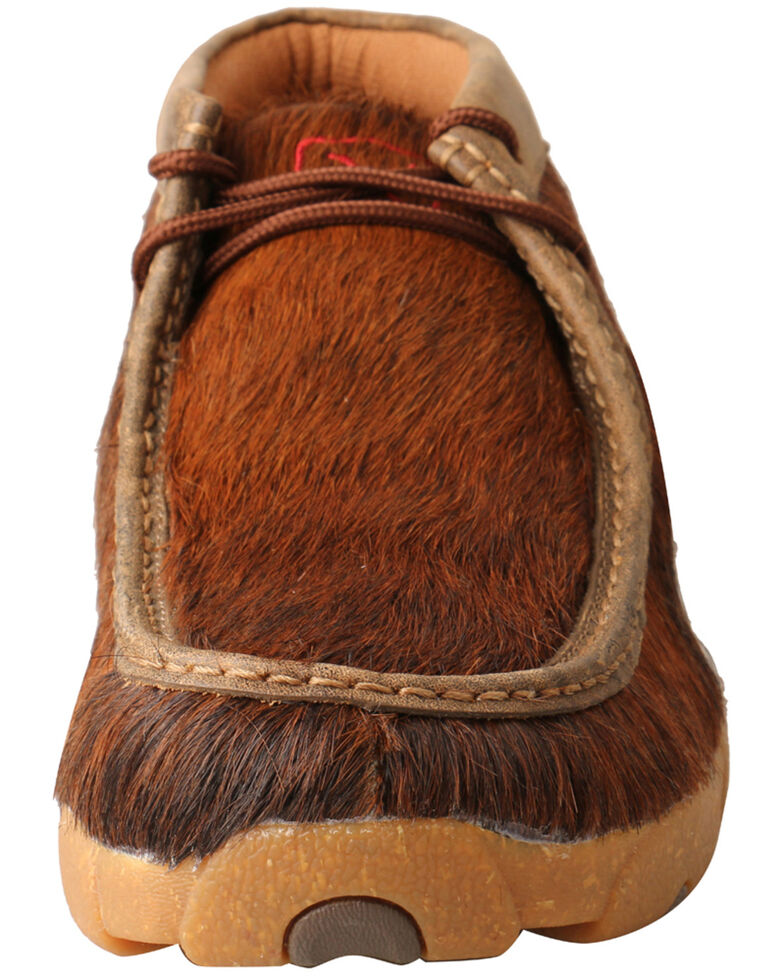 Twisted X Men's Brindle Cowhide Shoes - Moc Toe, Dark Brown, hi-res