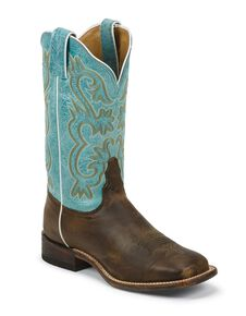 Tony Lama Women's Americana Cowgirl Boots - Square Toe, Tan, hi-res