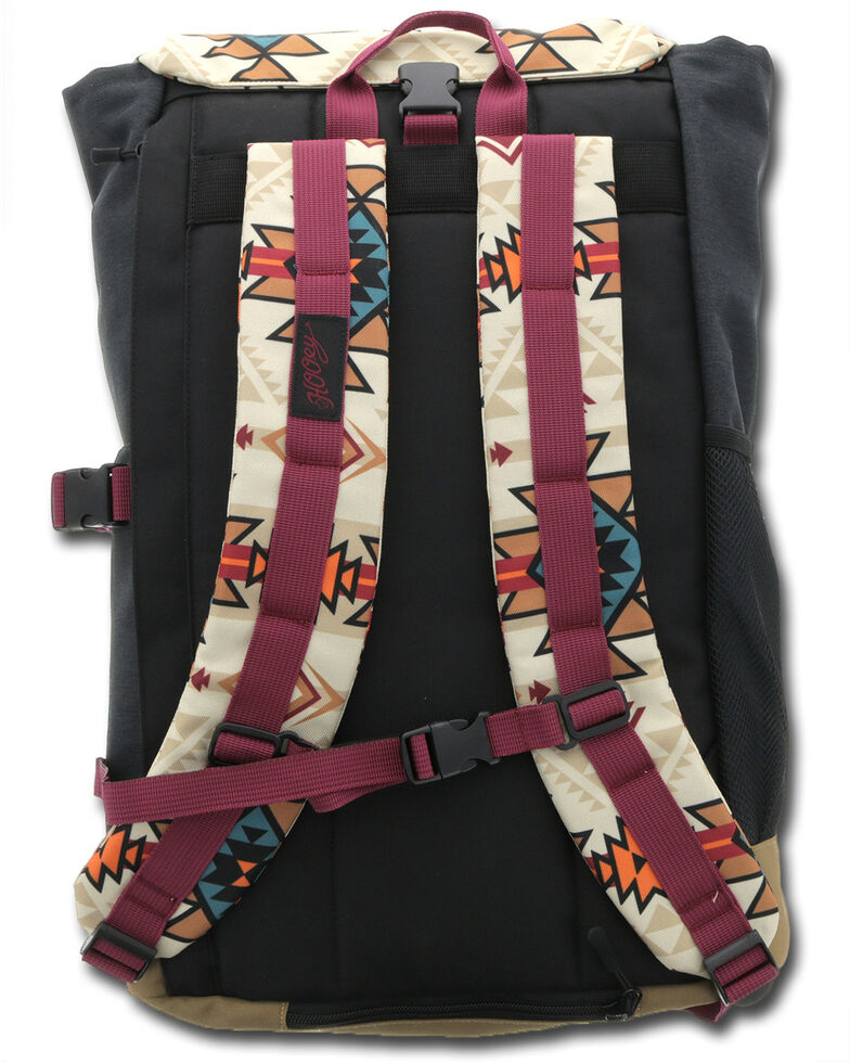 HOOey Aztec Topper II Backpack, Grey, hi-res