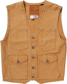 Schaefer Outfitter Men's Saddle Vintage Mesquite Vest, Brown, hi-res