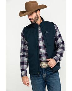 Ariat Men's Indigo Vernon 2.0 Softshell Vest , Indigo, hi-res
