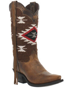 Laredo Women's Bailey Western Boots - Snip Toe, Honey, hi-res