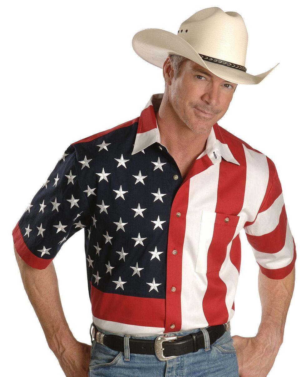 Rangewear by Scully USA Flag Western Shirt, Multi, hi-res