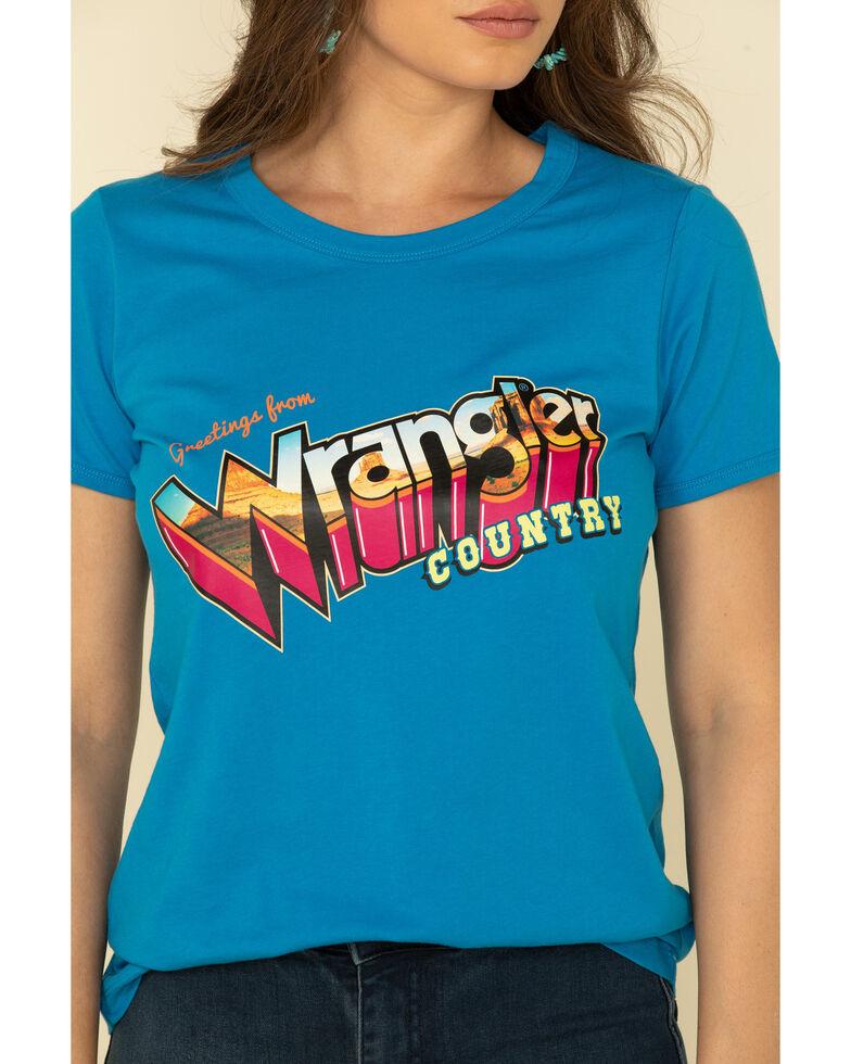 Wrangler Retro Woman's Wrangler Country Graphic Tee, Blue, hi-res