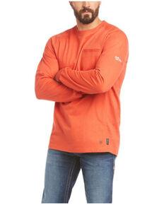 Ariat Men's FR Orange Air Rig Life Graphic Long Sleeve Work Shirt - Tall, Orange, hi-res