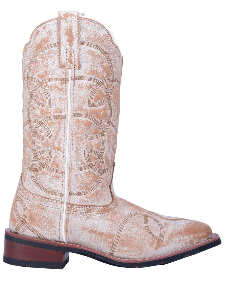 Laredo Women's All Mixed Up Western Boots - Wide Square Toe, Tan, hi-res