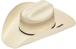 Twister 10X Shantung Double S Straw Cowboy Hat, Natural, hi-res