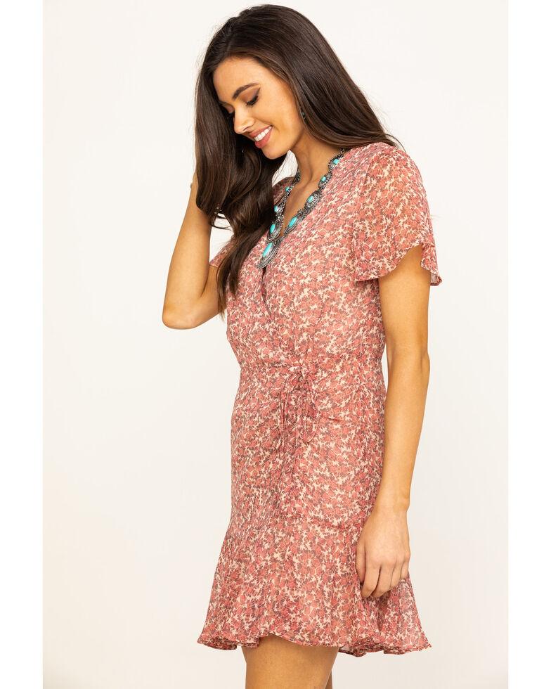 BB Dakota Women's Blush Call Me Daisy Wrap Dress, Cream, hi-res