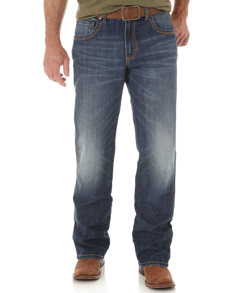 Wrangler Retro Men's Relaxed Fit Boot Cut Jeans, Indigo, hi-res