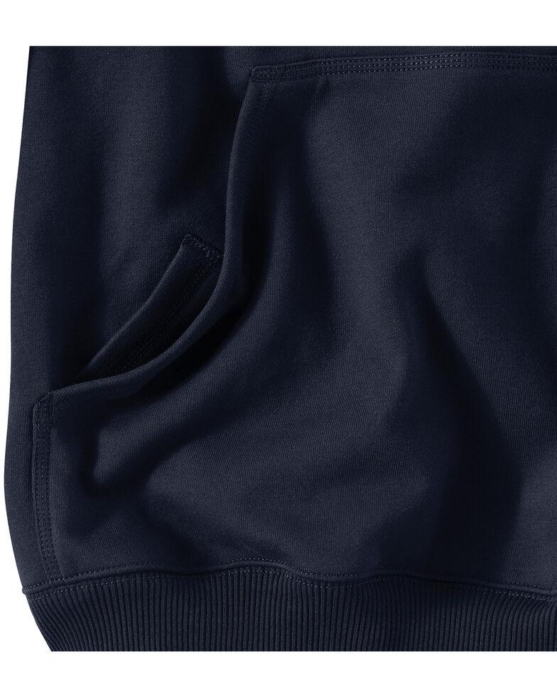 Carhartt Men's Rain Defender Paxton Heavyweight Hooded Work Sweatshirt, Navy, hi-res