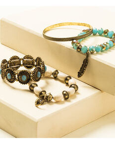 Shyanne Women's Crescent Sunset Concho Bracelet Set, Bronze, hi-res