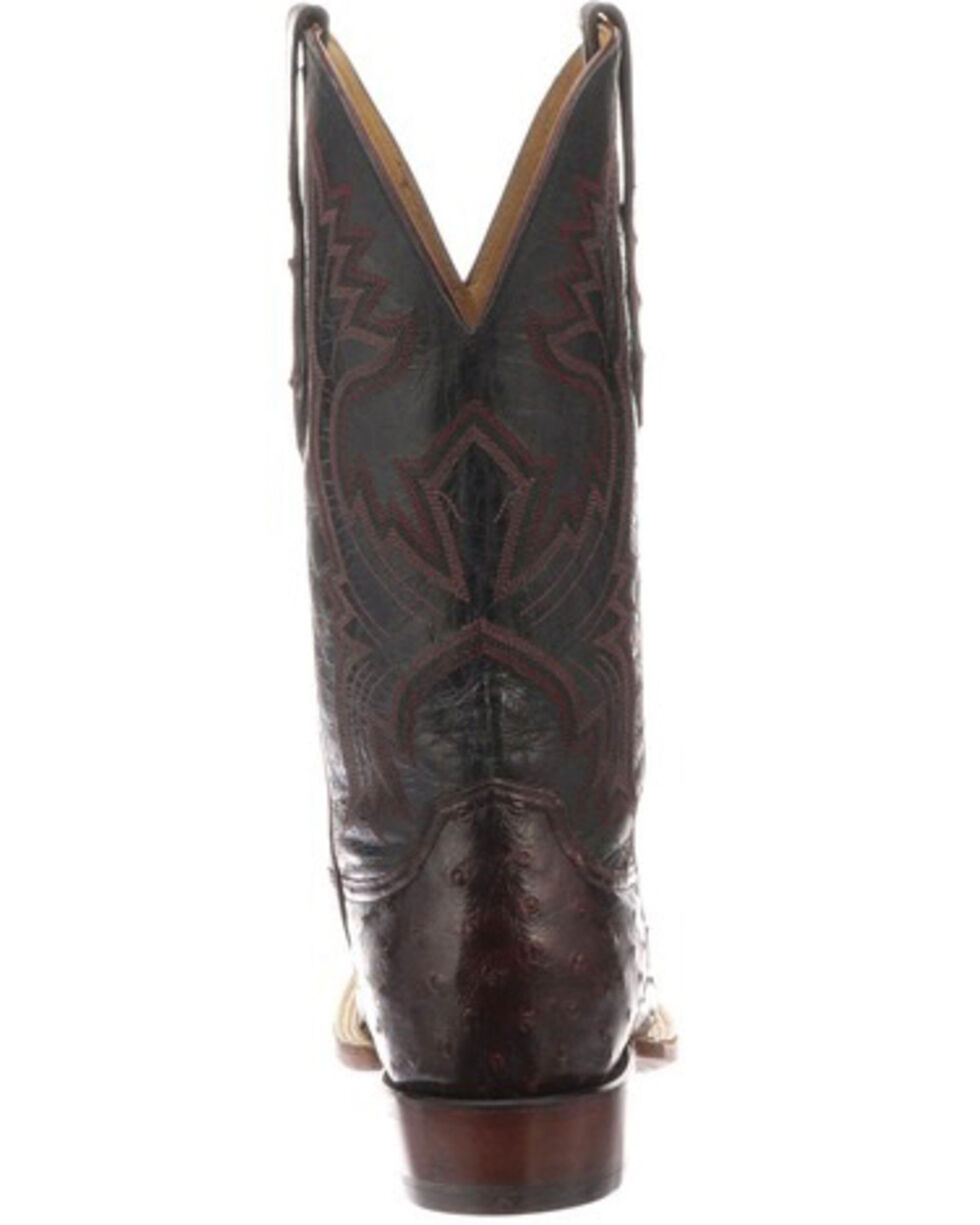 Lucchese Men's Cliff Exotic Western Boots - Square Toe, Black, hi-res