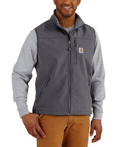 Carhartt Men's Denwood Work Vest , Charcoal, hi-res
