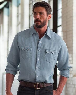 Ryan Michael Sawtooth Linen Shirt , Grey, hi-res