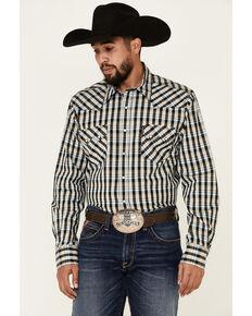 Cinch Men's Modern Fit Multi Small Plaid Long Sleeve Snap Western Shirt , Multi, hi-res
